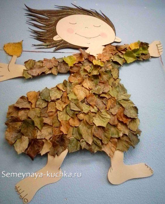اعمال يدوية للاطفال- أعمال فنية منوعة بورق الشجر